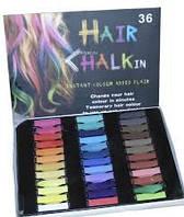 Мелки для волос Hair Chalk, 36 шт.