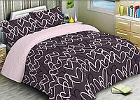 Полуторный комплект постельного белья 150х220 Ранфорс-хлопок 100% (15579)