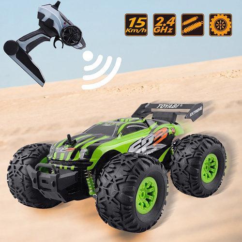 Джип вездеход Crazon Lightning Sports на радиоуправлении 2.4GHz, Машинка перевертыш | Салатовый