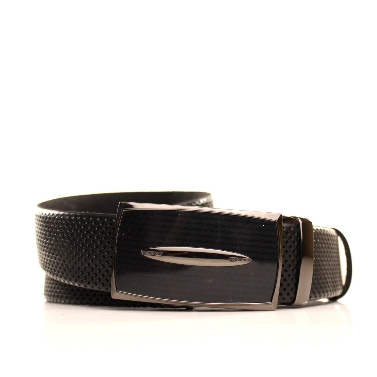 Ремень Lazar кожаный черный L35U1A175 120-125 см