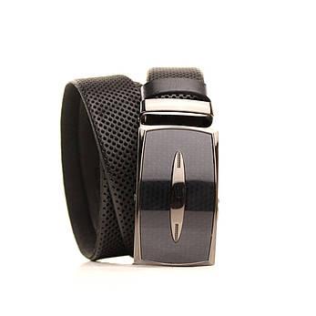 Ремень Lazar кожаный черный L35U1A175 120-125 см, фото 2