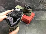 🔥 Ботинки кроссовки мужские зимние Puma Suede зеленые кожаные кожа теплые на меху шерстяные меховые, фото 4