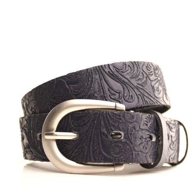 Ремень Lazar кожаный темно-синий L30S0W6 105-110 см