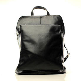 Рюкзак Casa Familia кожаный итальянский BIC0-301 черный