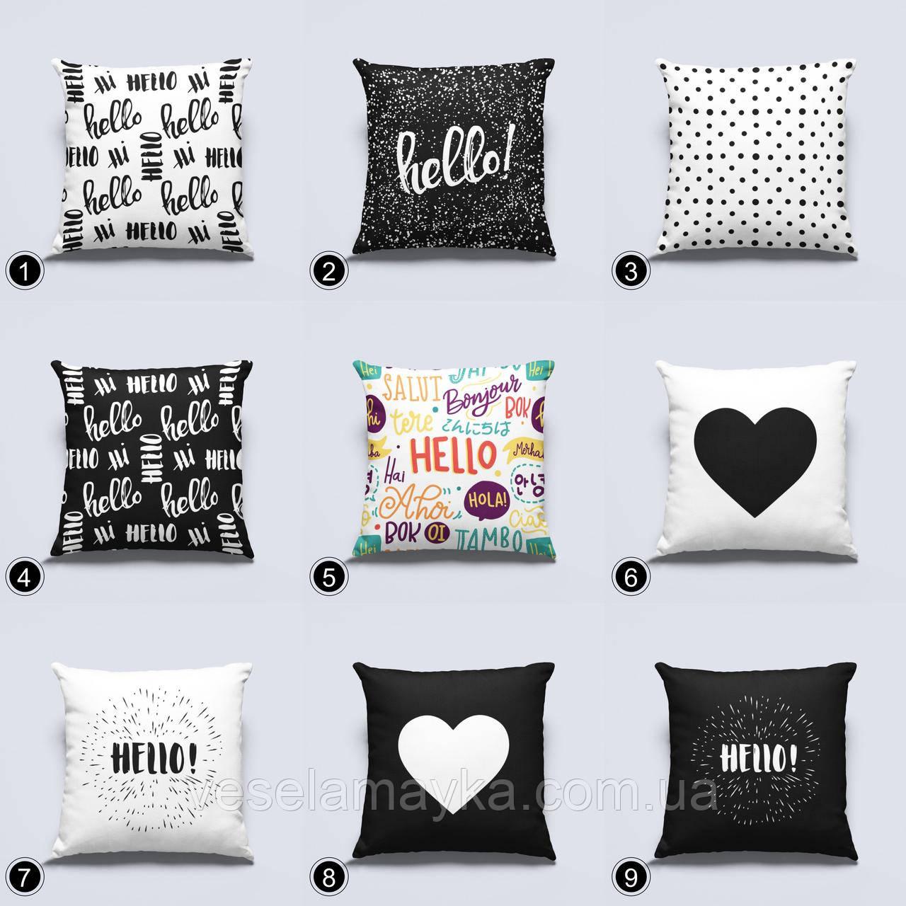 Декоративная подушка Hello (Привет)