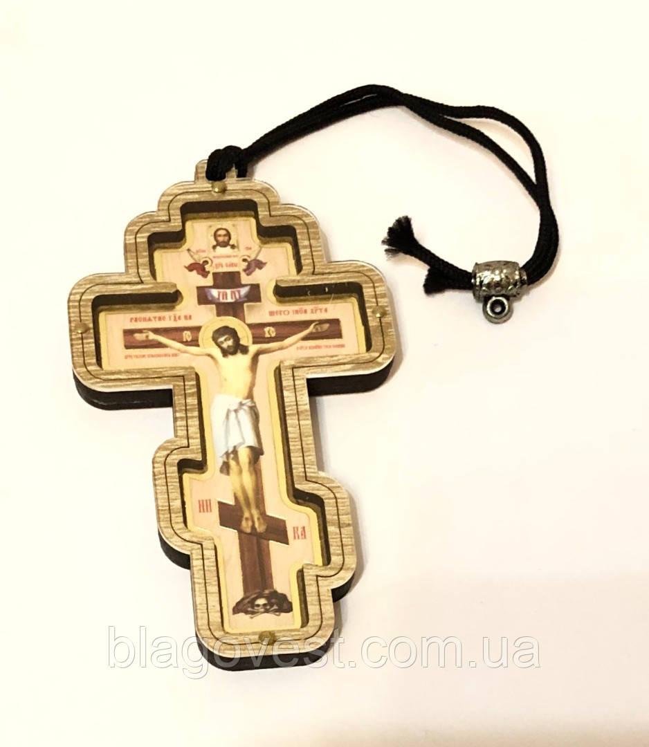 Автоподвеска крест восьмиконечный (полиграфия, оргстекло)