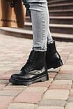 🔥 Ботинки женские зимние Dr. Martens Jadon черные кожаные кожа теплые на меху шерстяные меховые, фото 2