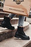 🔥 Ботинки женские зимние Dr. Martens Jadon черные кожаные кожа теплые на меху шерстяные меховые, фото 3