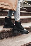 🔥 Ботинки женские зимние Dr. Martens Jadon черные кожаные кожа теплые на меху шерстяные меховые, фото 4