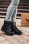 🔥 Ботинки женские зимние Dr. Martens Jadon черные кожаные кожа теплые на меху шерстяные меховые, фото 5