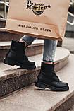 🔥 Ботинки женские зимние Dr. Martens Jadon черные кожаные кожа теплые на меху шерстяные меховые, фото 7