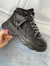 Черные кроссовки, зимние ботинки от 22 см до 24,5 см