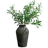 Искусственная ветка оливка  зеленая 88 см, фото 3