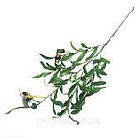 Искусственная ветка оливка  зеленая 88 см, фото 4