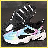 Женские кроссовки Nike M2K Tekno Rainbow (Разноцветный)