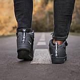 🔥 Ботинки кроссовки мужские зимние Nike Air Force серые кожаные кожа теплые на меху шерстяные меховые, фото 4