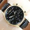 Яркие мужские наручные часы Armani 6990 Gold/Black 133