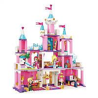 Конструктор Замок принцессы Qman 2616 типа ЛЕГО, аналог LEGO, конструктор для девочек от 6 лет, 801 деталей
