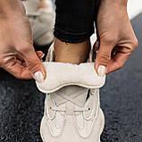 🔥 Ботинки кроссовки женские зимние Adidas Yeezy Boost 500 Fur бежевые кожаные замшевые теплые на меху меховые, фото 2