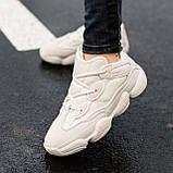 🔥 Ботинки кроссовки женские зимние Adidas Yeezy Boost 500 Fur бежевые кожаные замшевые теплые на меху меховые, фото 4