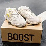 🔥 Ботинки кроссовки женские зимние Adidas Yeezy Boost 500 Fur бежевые кожаные замшевые теплые на меху меховые, фото 8