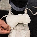 🔥 Ботинки кроссовки женские зимние Adidas Yeezy Boost 500 Fur бежевые кожаные замшевые теплые на меху меховые, фото 10