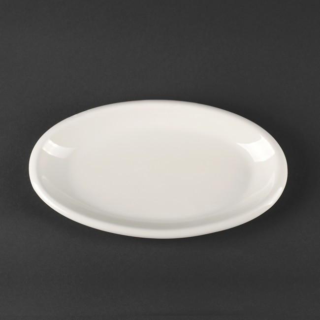 Блюдо овальное фарфоровое 250*140 мм HLS Extra white (A7029)