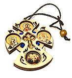Хрест підвіска в авто (з круглими іконами) Н, фото 2