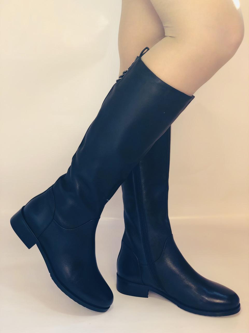 Женские осенне-весенние сапоги на низком каблуке. Натуральная кожа. Люкс качество. Erisses. Р 37.38.39.40