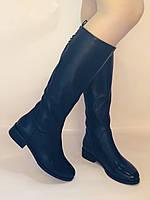 Жіночі осінньо-весняні чоботи на низькому каблуці. Натуральна шкіра. Люкс якість. Erisses. Р 37.38.39.40, фото 3