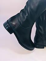 Жіночі осінньо-весняні чоботи на низькому каблуці. Натуральна шкіра. Люкс якість. Erisses. Р 37.38.39.40, фото 5