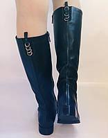 Жіночі осінньо-весняні чоботи на низькому каблуці. Натуральна шкіра. Люкс якість. Erisses. Р 37.38.39.40, фото 9