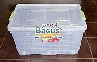 """Емкость для хранения 80,0л 71х45х38,2см пластиковая с колесами, ручками и крышкой """"Big Box"""" Ал-Пластик, фото 1"""
