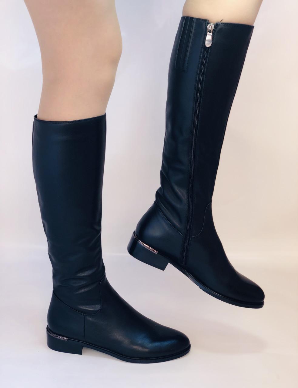 Женские осенне-весенние сапоги на низком каблуке. Натуральная кожа. Люкс качество. Р. 35.36. 37.39.Molka