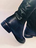 Женские осенне-весенние сапоги на низком каблуке. Натуральная кожа. Люкс качество. Р. 35.36. 37.39.Molka, фото 5