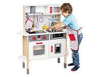 Детская игровая кухня PLAYTIVE® натуральное дерево для детей от 3 лет: много аксессуаров. Отличный подарок!