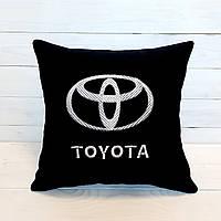 """Подушка автомобільна з вишивкою """" Toyota"""""""