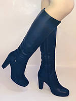 Женские осенне-весенние сапоги на каблуке. Натуральная кожа. Люкс качество. Р. 35, 36, 38, фото 2