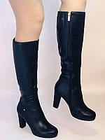 Жіночі осінньо-весняні чобітки на підборах. Натуральна шкіра. Люкс якість. Р. 35, 36, 38, фото 3
