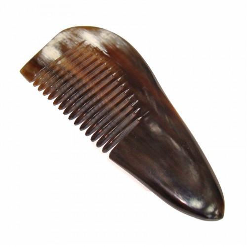Расческа для волос с частыми зубьями из рога Яка