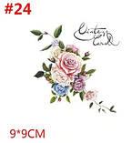 Термонаклейка на ткань для декора Букет роз, фото 2