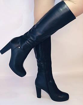 Женские осенне-весенние сапоги на каблуке. Натуральная кожа. Люкс качество. Р. 35, 36, 38