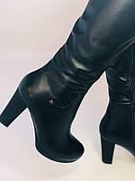 Женские осенне-весенние сапоги на каблуке. Натуральная кожа. Люкс качество. Р. 35, 36, 38, фото 10