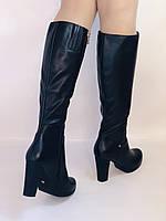 Женские осенне-весенние сапоги на каблуке. Натуральная кожа. Люкс качество. Р. 35, 36, 38, фото 6