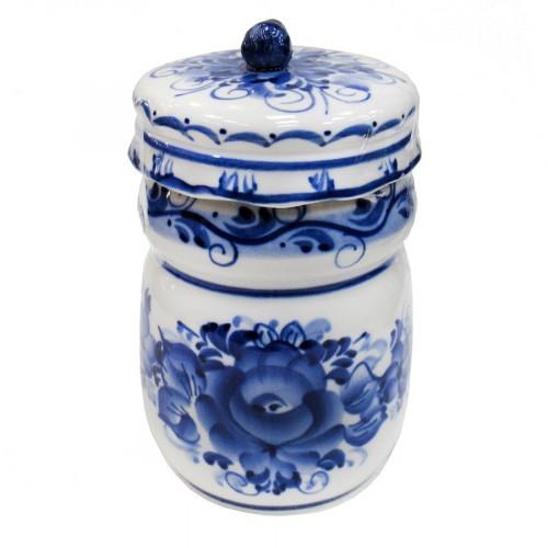 Ёмкость для сыпучих продуктов гжель керамика