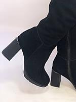 Сапоги-ботфорты на каблуке. Натуральная замша. Blue Tempt. Р. 35-40, фото 7