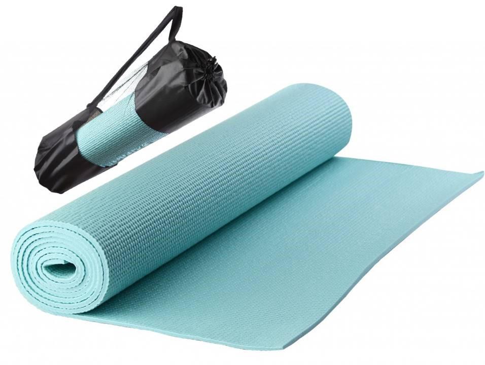 Коврик для йоги, пилатеса, фитнеса LiveUp 183x61x0,6см YOGA MAT в чехле (YJ3231-06b)