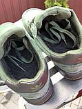 🔥 Ботинки кроссовки мужские зимние Adidas Iniki зеленые кожаные кожа теплые на меху шерстяные меховые, фото 6