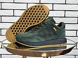 🔥 Ботинки кроссовки мужские зимние Adidas Iniki зеленые кожаные кожа теплые на меху шерстяные меховые, фото 3