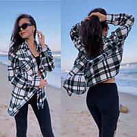 Рубашка женская теплая over size (S-XL)